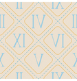 seamless background with Roman numerals vector image vector image