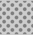 seamless dark pattern with polka dots on grey vector image vector image