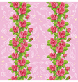 seamless roses soft pink vector image vector image