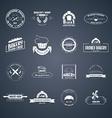 set bakery logos vector image vector image