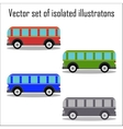 set retro city buses on a white background vector image
