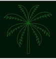 Silhouette of Palm Tree vector image vector image