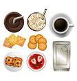 Snacks and drinks vector image vector image