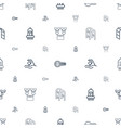 stroke icons pattern seamless white background vector image vector image