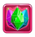 The application icon with gems vector image vector image