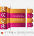 the info graphic vector image vector image