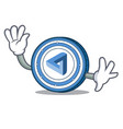 waving maidsafecoin character cartoon style vector image vector image