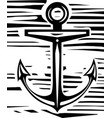 woodcut anchor vector image vector image