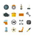 vehicle auto technology car parts flat vector image