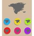 Alaska Map - icon isolated vector image