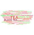 Tea variety vector image