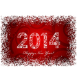2014 ornate snow frame red vector image vector image