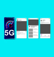 5g high speed network on online social media vector image vector image