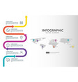 6 steps business infographic timeline design vector image vector image