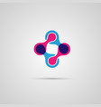 abstract connect circle molecule vector image