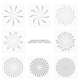 Abstract dot shapes set vector image vector image