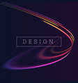 abstract pink and blue colour neon loop vector image vector image
