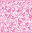 abstract pink christmass snowflakes on vector image vector image