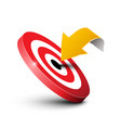 arrow with target icon marketing concept business vector image