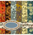 background patchwork technique vector image