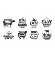 BBQ barbecue meat labels Collection elements vector image vector image
