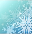 Beautiful blue winter background vector image vector image