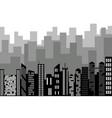 black random city skyline cityscape on white vector image vector image