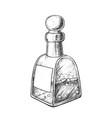 bubbled potion liquid bottle monochrome vector image