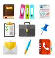 business icons set hr icon set vector image vector image