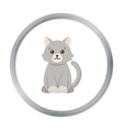 Cat cartoon icon for web and mobile vector image