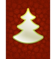 Christmas applique with tree EPS8 vector image vector image