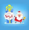 christmas sales discounts santa claus and big vector image vector image