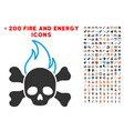 death fire icon with bonus fire set vector image