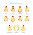 diabetes symptoms vector image vector image
