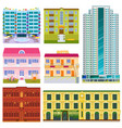different buildings hotels facade tourist vector image vector image