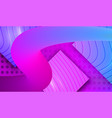 duotone flow neon lines on glossy background vector image vector image