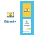 email on laptop creative logo and business card vector image