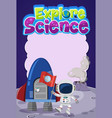 explore science logo with blank banner vector image vector image