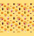 fast-food seamless isometric pattern