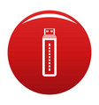 flash drive icon red vector image vector image