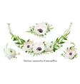 flower bouquet floral wreath design object vector image