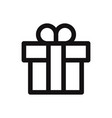 gift icon presentsurprise symbol flat sign vector image vector image