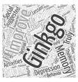 Ginkgo Biloba Word Cloud Concept