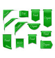 green eco banners isolated 3d icons set vector image