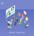 group coaching in training centre vector image vector image