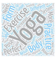 Is Yoga the Perfect Exercise text background vector image vector image