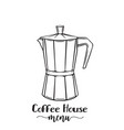 italian coffee maker vector image vector image