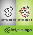 ladybug logo vector image vector image