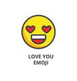 love you emoji line icon sign vector image vector image