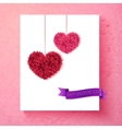 Loving Valentine card design with hearts vector image vector image